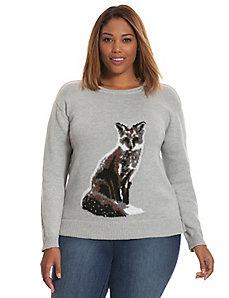 Fox intarsia sweater