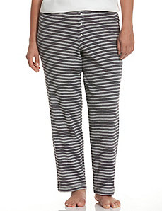 Metallic stripe thermal sleep pant