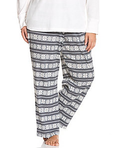 Fair Isle thermal sleep pant