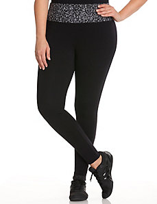 Printed waist active legging