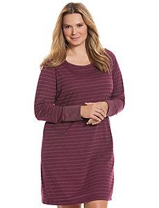 Sparkle stripe sleep shirt
