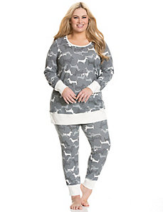 Puppy party thermal PJ set