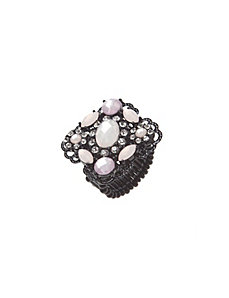 Filigree stone ring