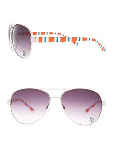 Striped aviator glasses