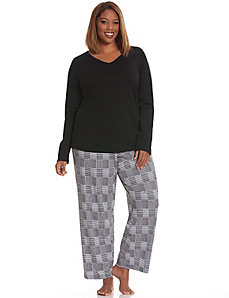 Houndstooth 2-piece PJ set