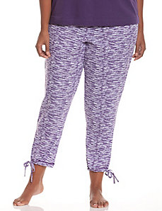 Drawstring cuff sleep pant