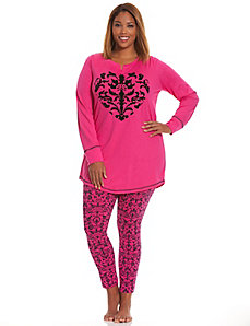 Scroll heart 2-piece PJ set