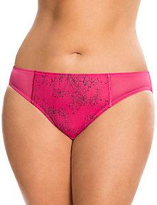 Draped bow bikini panty