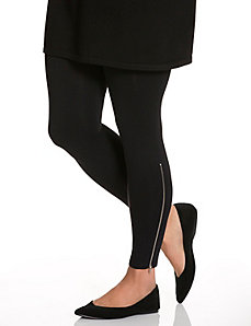 Control top side zip legging