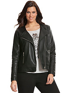 Perforated moto jacket