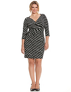 Simply Chic slimming faux wrap dress