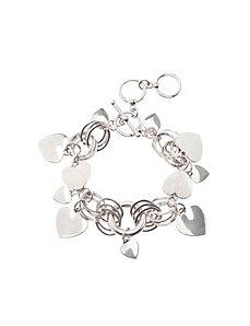 Heart cluster bracelet