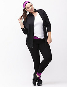 TruDry wicking asymmetric zip active jacket