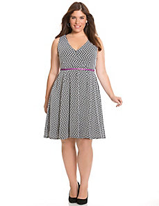 Polka dot skater dress
