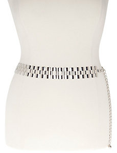 Cut-out chain belt