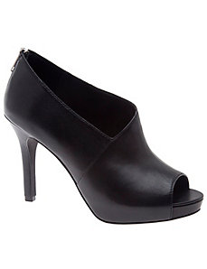 Adriana leather overwrap heel