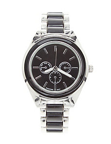 Black & silvertone watch