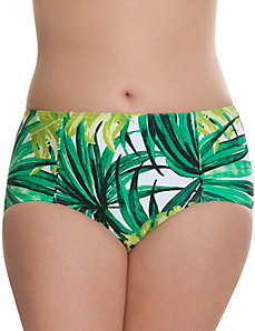 Palm print bikini bottom