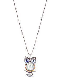 Beaded owl statement necklace