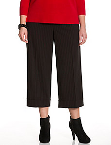 Lena Tailored Stretch striped wide leg crop