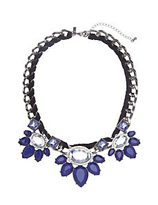 Statement necklace with velvet