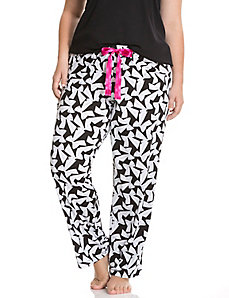 Bow print sleep pant
