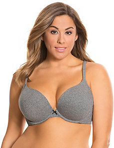 Cotton boost plunge bra