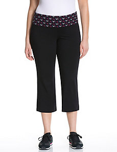 Signature Stretch logo yoga capri