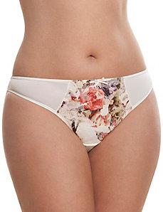 Bold lace thong panty