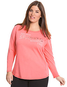 Sparkle long sleeve tee