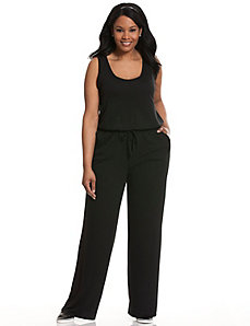 Scoop neck knit jumpsuit