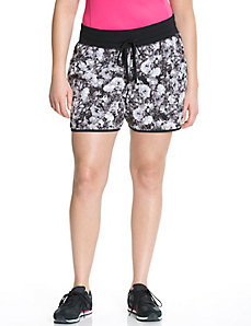 Performance Stretch floral woven active shorts