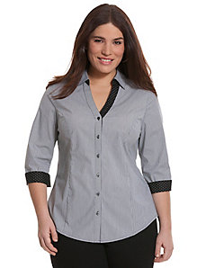 3/4 sleeve striped Perfect shirt