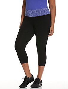 Signature Stretch space dye capri legging