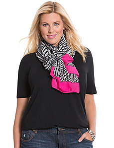 Color pop printed scarf