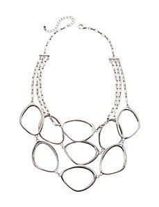 Nested oval necklace