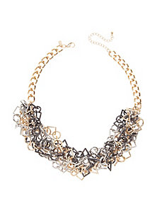 Tangled geometric chain necklace