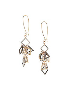 Tangled geometric drop earrings