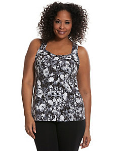 Signature Stretch floral active tank
