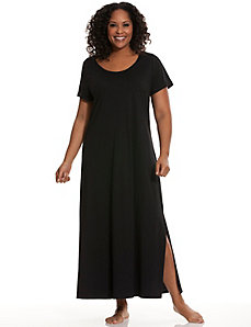 Short sleeve sleep maxi lounger