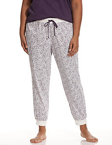 Floral striped sleep pant