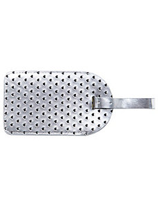 Heart perforated luggage tag