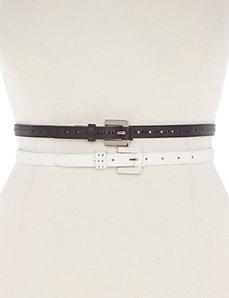 Skinny belt duo