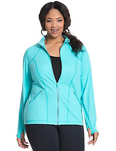 TruDry mock neck active jacket