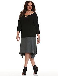 6th & Lane colorblock skirt