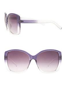 Ombre square frame sunglasses