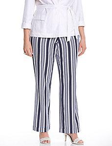 Lena striped stretch linen trouser