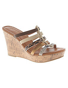 Multi strap wedge sandal