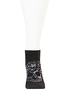 Floral skull low cut sock 3-pack