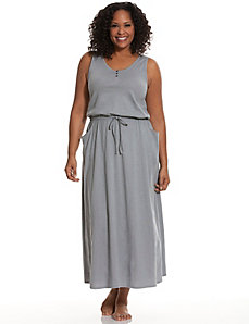 Cinched waist sleep maxi lounger